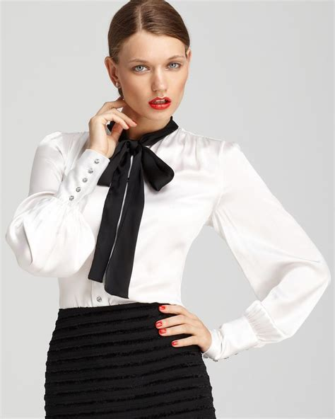 Blouse Katun C Bow 17 best images about collars and fashion 1 on madame du barry ruffle blouse and satin