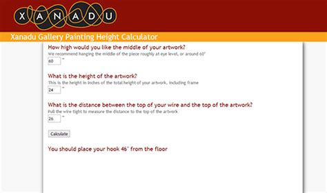 picture hanging height formula how to hang a painting a free guide from xanadu gallery