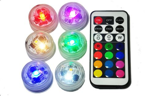 Colour Candle 10pcs 10pcs led submersible floralytes remote controlled waterproof candle tea light rgb color change