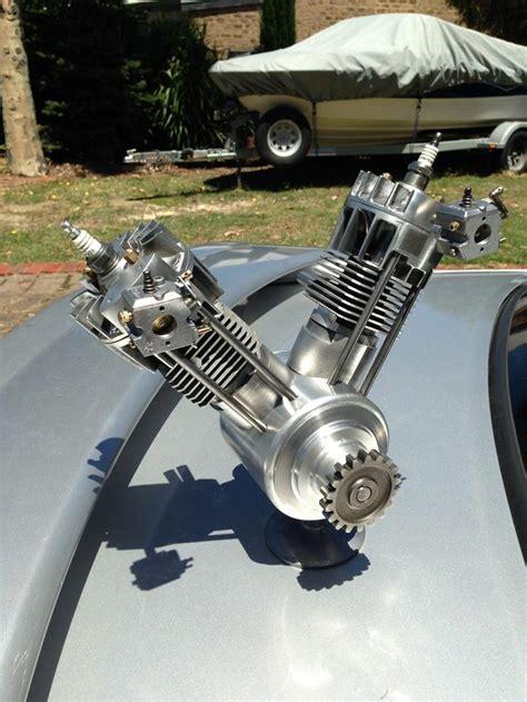 Motor Aki Harley Davidson Twn vintage harley davidson v engine 811cc model engine on stand carbs harley davidson