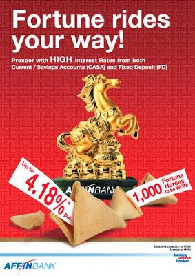 new year fixed deposit promotion 48 smart affin bank fortune rides your way cny fd promotion