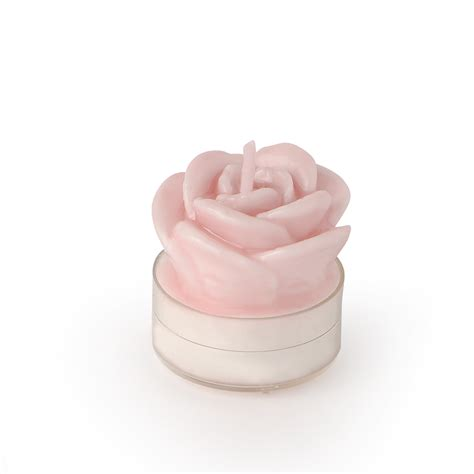 candele hervit candela rosa hervit laccata mis 7x5 h cm