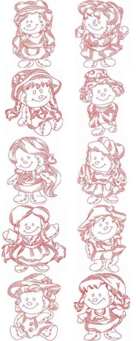 rag dolls 2 embroidery machine designs jn rag dolls 2 set