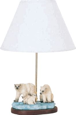 polar bears accent lamp