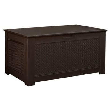 Rubbermaid Patio Chic Storage Trunk by Deck Box Storage Benches And Decks On