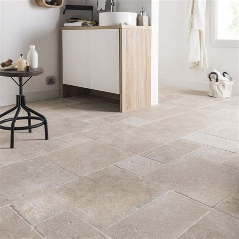 Bourgogne Sol Mur by Travertin Sol Et Mur Beige Effet Travertin L 40 X L