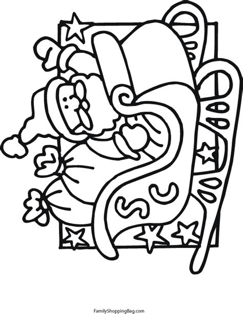 coloring page of santa s sleigh uu27itu santa sleigh coloring pages