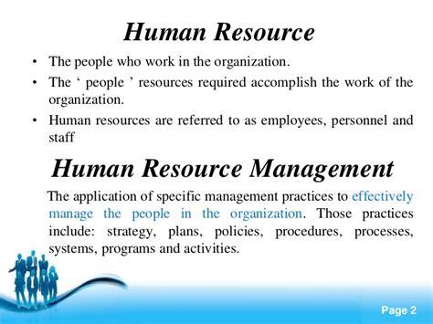 Strategic Human Resource Management Notes Mba by Human Resource Management