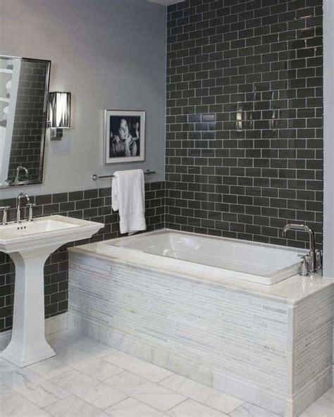 piastrelle nere per bagno piastrelle per bagno classico foto design mag