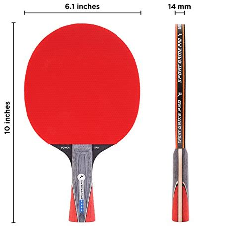 Or Handle Fast 1pcs Rubber Ping Pong Racket Attack Chop Dou sport pro ping pong paddle with killer spin table tennis paddle with comfort grip 2 0 mm