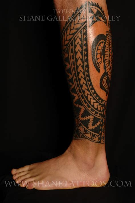 calf tattoos designs shane tattoos rotuman calf