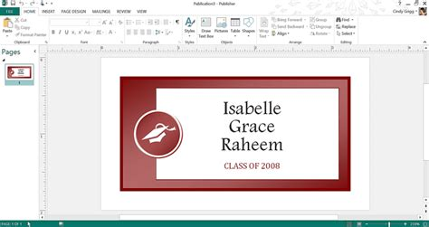 Get Microsoft S Best Graduation Templates Id Badge Template Publisher