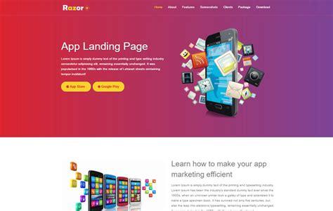 bootstrap layout razor webthemez landing page template bootstrap free download
