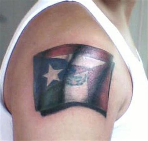 tattoo 3d mexico an arm tattoo of half of the mexican flag and half of the
