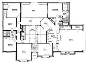 Four Bedroom Ranch House Plans by Gallery For Gt 4 Bedroom Ranch Style Floor Plans