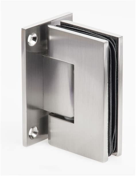 Shower Door Hinged Heavy Glass Shower Door Hinges In Brushed Nickel