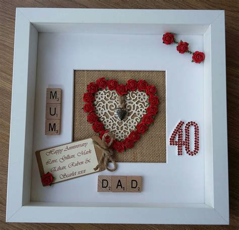 Wedding Anniversary Gifts Ruby by Personalised 40th Ruby Wedding Anniversary Geldgeschenke