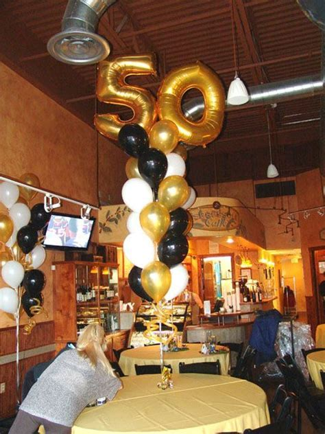 masculine 50th birthday centerpieces   50th Birthday party