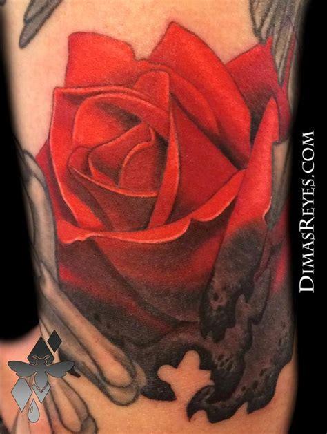 burning rose tattoo burning by dimas reyes tattoonow