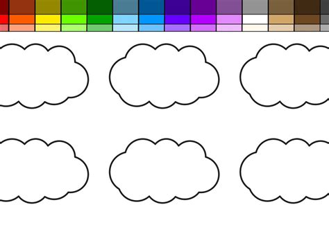 color and learn rain coloring pages printable cool simple and cute rainbow