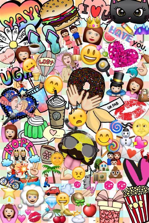 emoji collage wallpaper fondo de pantalla creado por mi emojis nancyr