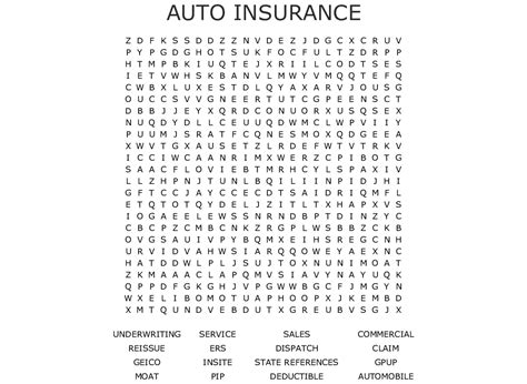 Car Insurance Finder by Auto Insurance Word Search Wordmint