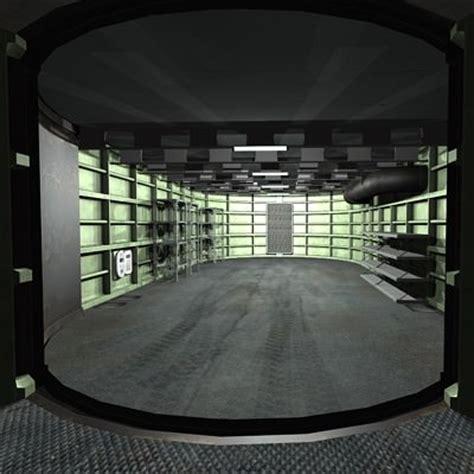 3d model bunker garage vr ar low poly max cgtrader