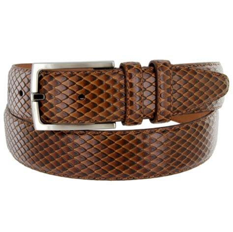 1392 s embossed calfskin leather dress belt 1 3 8