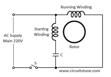 ceiling fan wiring diagram with capacitor connection
