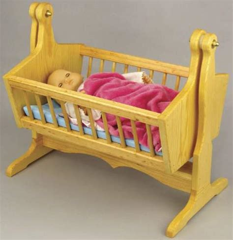 dolls swinging crib 19 w3602 swinging doll cradle woodworking plan