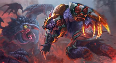 wallpaper dota 2 ursa ursa vs roshan alpha mammoth crusher loadscreen dota 2