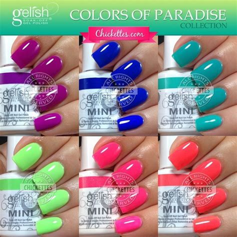 gelish colors gelish colors of paradise collection summer 2014