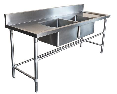 Kitchen Bench Sinks 2200x600mm Commercial Bowl Kitchen Sink 304