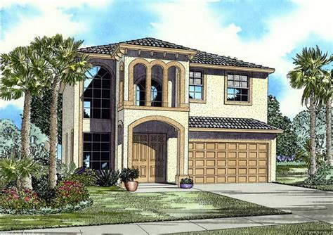 palatial two story master suite in mediterranean style mediterranean home with 5 bdrms 2647 sq ft house plan
