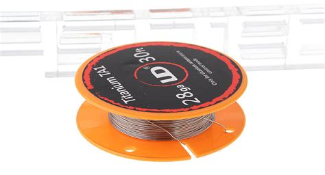 Authentic Kawat Kanthal A1 Ud 24awg 30ft 2 87 authentic ud titanium ta1 heating wire for rebuildable atomizers 28 awg 0 3mm dia
