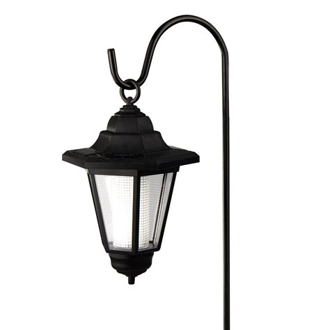 Lantern Solar Lights Outdoor Solar Powered Hanging Lantern With Sheperds Hook Outdoor L Garden Light Ebay