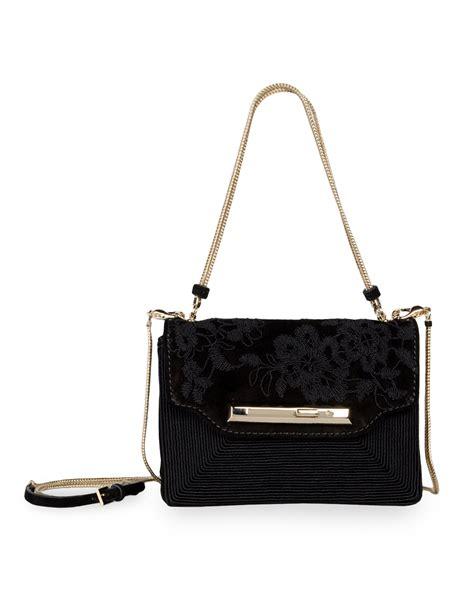 valentino small shoulder bag in black suede all handbag