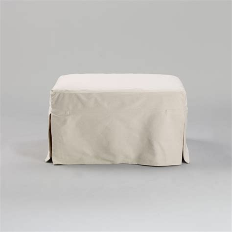 ottoman cube slipcover corbett ottoman slipcover traditional footstools and