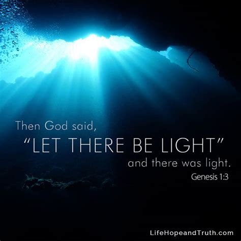god said let there be light then god said quot let there be light and there was light quot