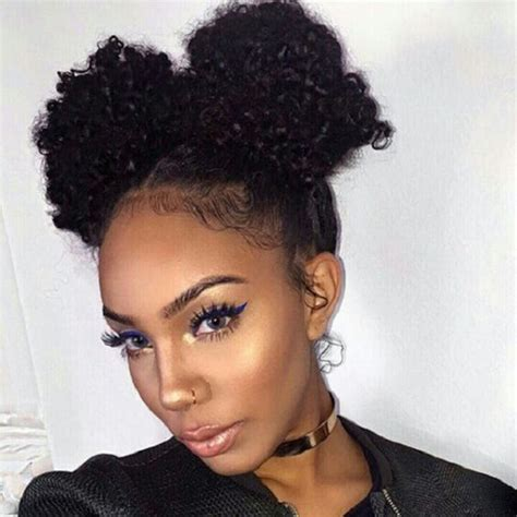 3 buns for any length without added hair african american natural hairstyles for medium length hair