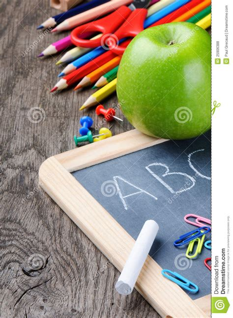 colorful office school supplies royalty free stock image colorful school supplies royalty free stock photos image