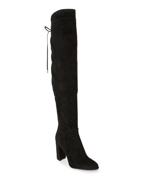 marc fisher the knee boots marc fisher black faux suede the knee boots in black