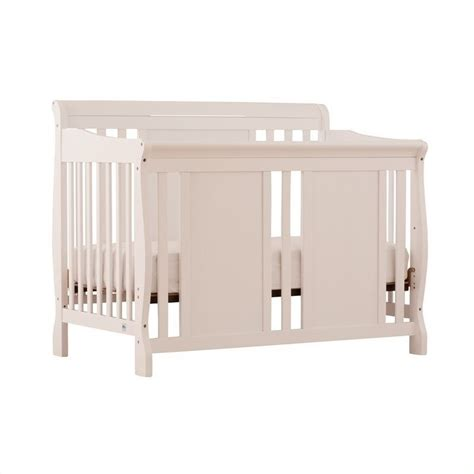 4 In 1 Convertible Crib White Fixed Side 4 In 1 Convertible Crib In White 04587 481