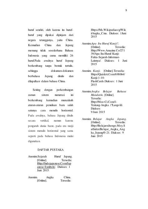 penulisan daftar pustaka anonim mengapa penulisan numerasi china jepang ditulis vertikal