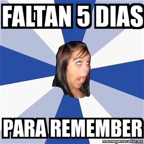 Girls On Facebook Meme - meme annoying facebook girl faltan 5 dias para remember