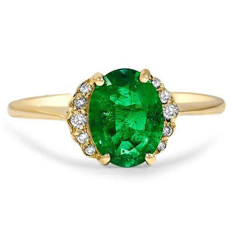 modern emerald vintage ring keeley brilliant earth