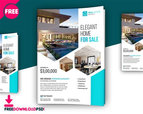 property flyer template free premium real estate flyer template freedownloadpsd