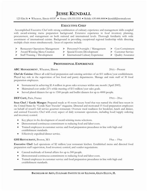Kitchen Chef Resume Sle 48 Lovely Images Of Chef Resume Sle Resume Sle Format Resume Sle Format