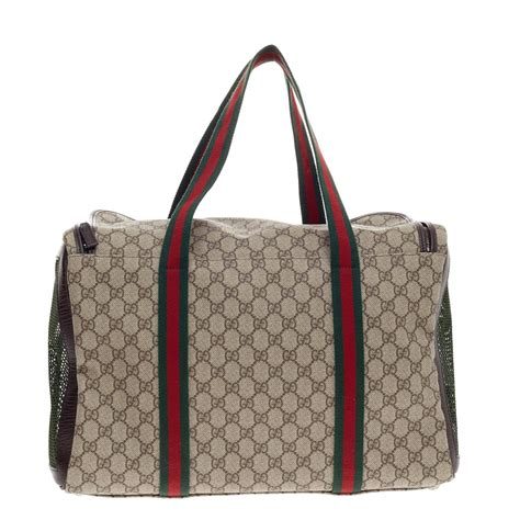 gucci carrier gucci pet carrier gg canvas large at 1stdibs