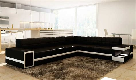 contemporary black leather sectional sofa modern black leather sectional sofa vg106 leather sectionals